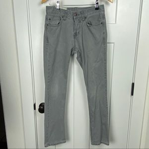 Hollister 28x30 gray straight button fly jeans